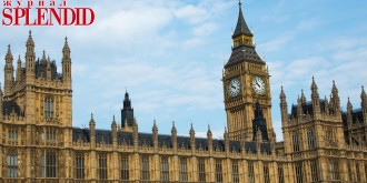 Houses of Parliament / Palace of Westminster with Big Ben, in London, Europe, UK, Where the UK Government is based.. Image shot 2015. Exact date unknown.